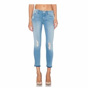 Mother Undone hem Looker crop Distressed jeans 26